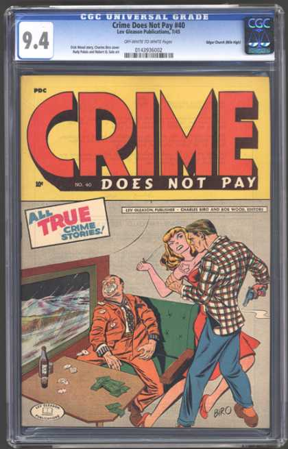 CGC Graded Comics - Crime Does Not Pay #40 (CGC)