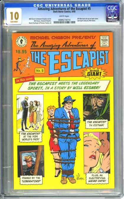 CGC Graded Comics - Amazing Adventures of the Escapist #5 (CGC) - 1939 Worlds Fair - Plus An Electrifying Weird Date - In Vietnam - Framed By The Liberators - Tied Up With Rope