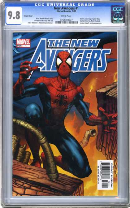 CGC Graded Comics - New Avengers #1 (CGC) - Spiderman - Costume - The New Avengers - Marvel - Direct Edition