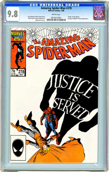 CGC Graded Comics - Amazing Spider-Man #278 (CGC) - Spiderman - Marvel 25th Anniversary - Justice Is Served - The Hobgoblin - Shadow