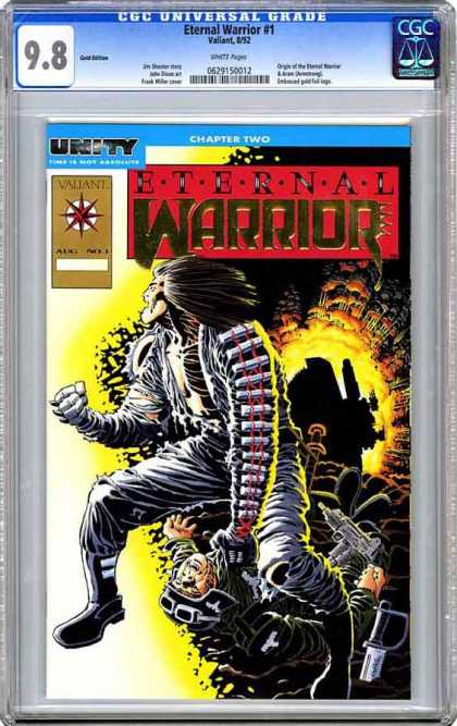 CGC Graded Comics - Eternal Warrior #1 (CGC) - Sucker Punch To Throat - Monkey Stomping - Angry Man - Violence - Warfare