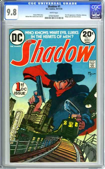 CGC Graded Comics - Shadow #1 (CGC) - Train - Track - Bandit - Shadow - Villan