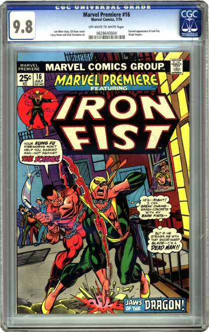 CGC Graded Comics - Marvel Premiere #16 (CGC)