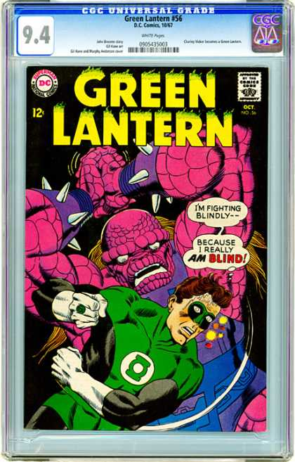 CGC Graded Comics - Green Lantern #56 (CGC) - Blinding - Harrowing - Escape - Fighting - Death