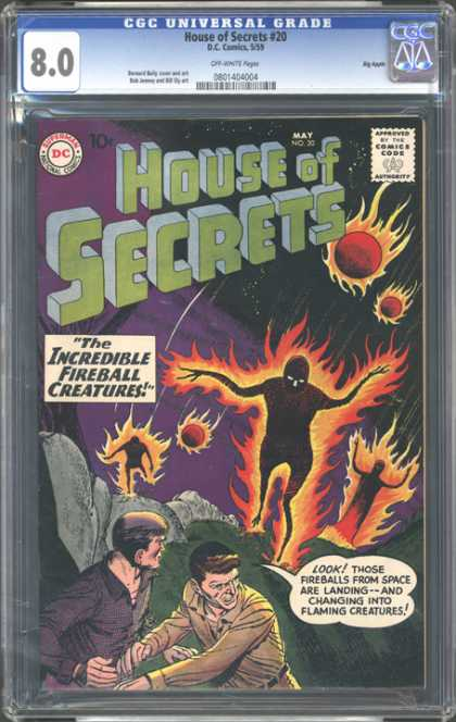 CGC Graded Comics - House of Secrets #20 (CGC) - House Of Secrtes - The Incredible Fireball Creature - Flaming Creatures - Look - Dc