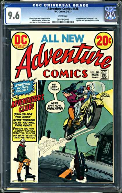 CGC Graded Comics - Adventure Comics #426 (CGC) - Adventurers Club - Adventure Comics - No 426 - Dc Adventure Comics - Spine-tingling Tales