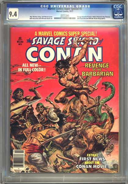 CGC Graded Comics - Marvel Comics Super Special #2 (CGC) - Marvel Comics Group - Revenge - Barbarian - Cona Movie - Sword