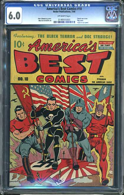 CGC Graded Comics - America's Best Comics #10 (CGC) - Soviet Union Flag - United States Flag - Pyroman - The American Eagle - Marching