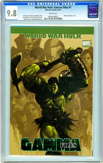 CGC Graded Comics - World War Hulk: Gamma Files #1 (CGC) - World War Hulk - Gamma Files - Green Man - Marvel - 98