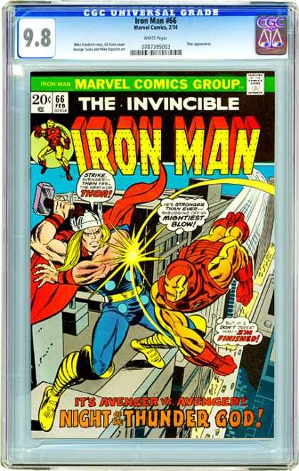 CGC Graded Comics - Iron Man #66 (CGC) - Marvel - Marvel Comics - Iron-man - Thor - Thunder God