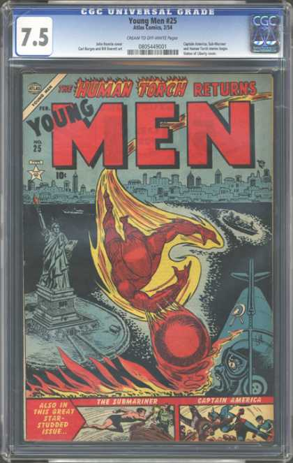 CGC Graded Comics - Young Men #25 (CGC)