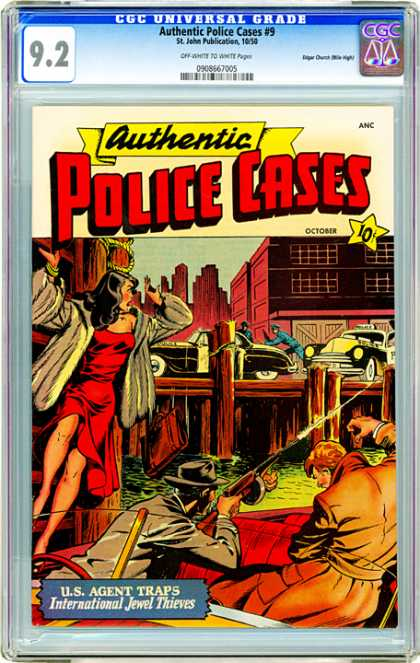 CGC Graded Comics - Authentic Police Cases #9 (CGC)