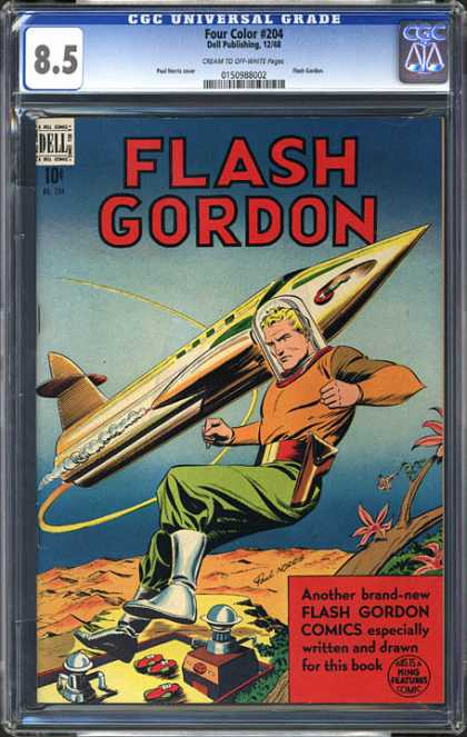 CGC Graded Comics - Four Color #204 (CGC) - Dell - King Features - Spaceship - Written - Drawn