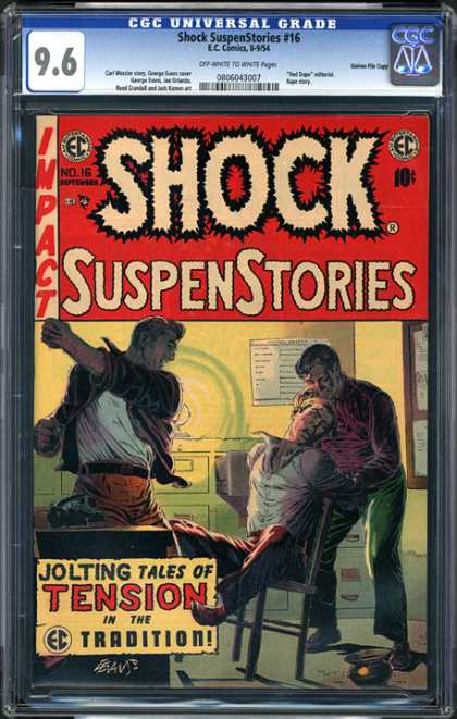 CGC Graded Comics - Shock SuspenStories #16 (CGC) - Shock - Suspenstories - Punch - Tension - Tradition