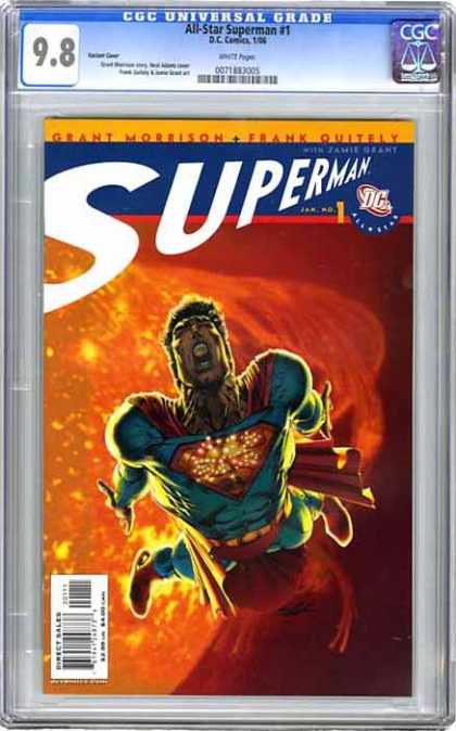 CGC Graded Comics - All-Star Superman #1 (CGC) - Planet - Red - Blue - Superman - Flying