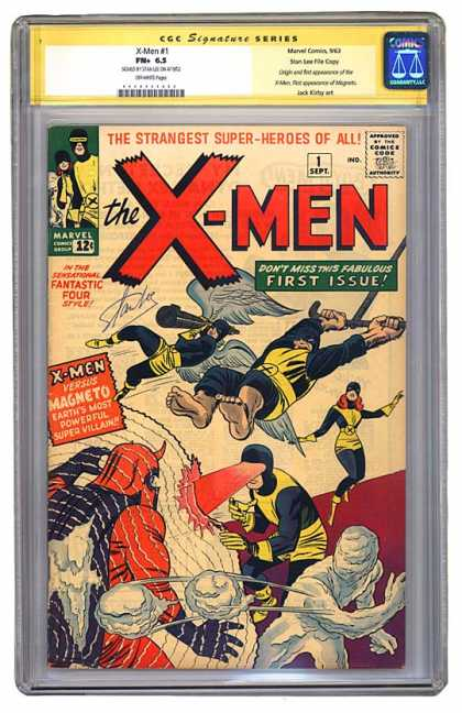 CGC Graded Comics - X-Men #1 (CGC) - Strangest Super-heroes Of All - 1 Sept First Issue - Magneto - Wings - Snowballs