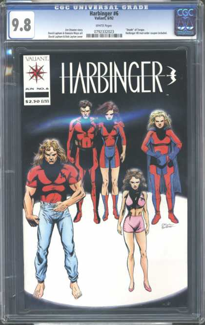 CGC Graded Comics - Harbinger #6 (CGC) - Harbinger - Valliant - 98 - No6 - Women