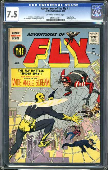 CGC Graded Comics - Adventures of the Fly #1 (CGC) - Edge - Edge Comics - The Fly - Wide Angle Scream - Spider Spry