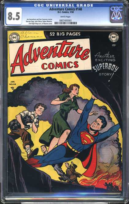 CGC Graded Comics - Adventure Comics #148 (CGC) - Fire - Smoke - Green Dress - Red Cape - Brown Suit