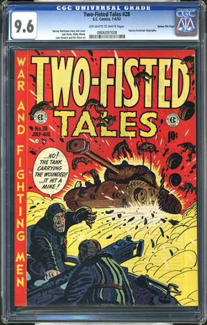 CGC Graded Comics - Two-Fisted Tales #28 (CGC) - Two-fisted Tales - War - Fighting - Men - Tank