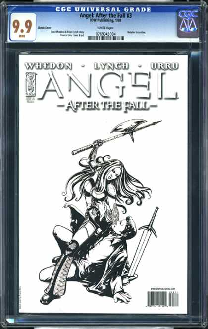 CGC Graded Comics - Angel: After the Fall #3 (CGC) - Angelafter The Fall - Axe - Woman - Sword - Man