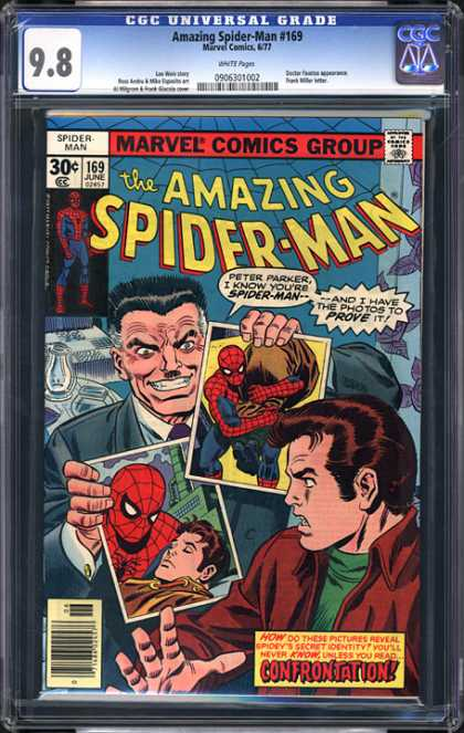 CGC Graded Comics - Amazing Spider-Man #169 (CGC) - Amazing Spider-man 169 - Cgc Univerasal Grade - Peter Parker - Photos To Prove It - Identity Of Spider-man