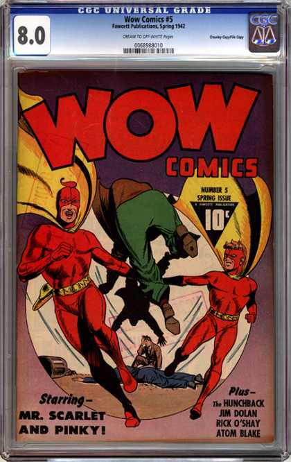 CGC Graded Comics - Wow Comics #5 (CGC) - Wow - Wow Comics - Ms Scarlet - Pinky - The Hunchback