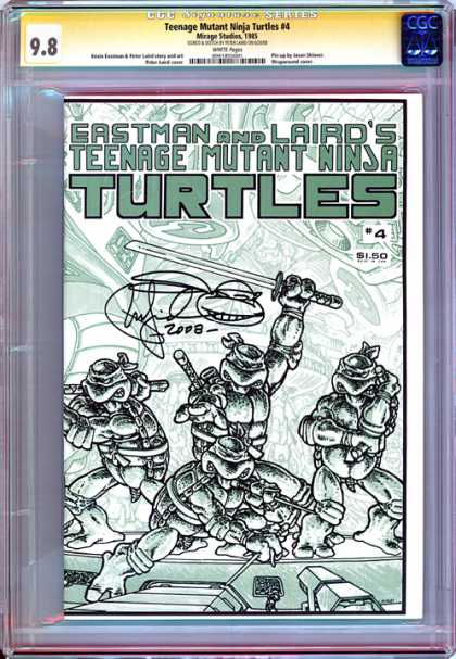 CGC Graded Comics - Teenage Mutant Ninja Turtles #4 (CGC) - Raphael - Leonardo - Donatello - Michelangelo - Tmnt