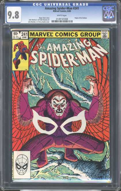 CGC Graded Comics - Amazing Spider-Man #241 (CGC) - Wings - Forest - Web - Purple - Branch