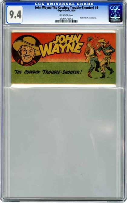 CGC Graded Comics - John Wayne The Cowboy Trouble-Shooter! #4 (CGC)