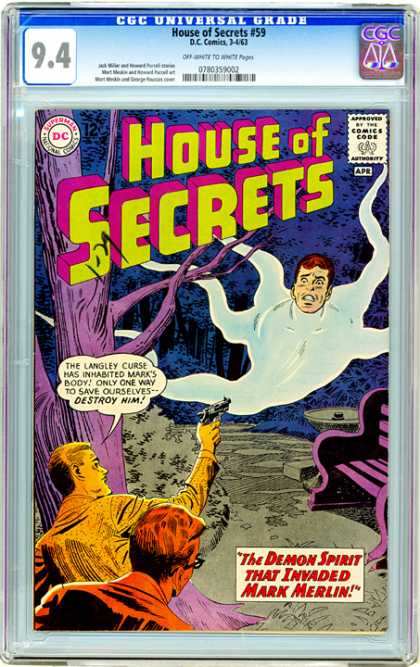 CGC Graded Comics - House of Secrets #59 (CGC)