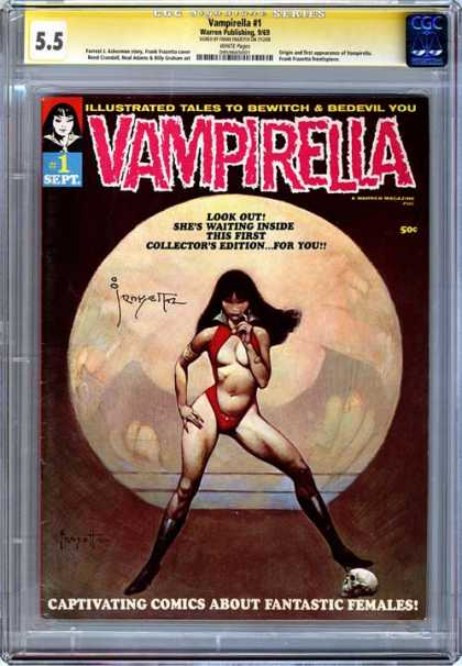 CGC Graded Comics - Vampirella #1 (CGC) - Vampirella - Collectors Edition - Issue 1 - Female - Fantastic