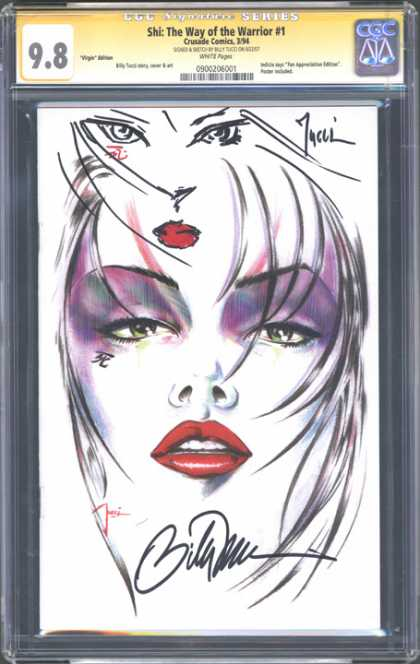 CGC Graded Comics - Shi: The Way of the Warrior #1 (CGC) - Red Lips - Drawing - Shi - The Way Of The Warrior 1 - 98