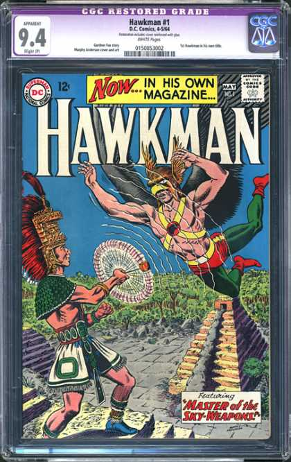 CGC Graded Comics - Hawkman #1 (CGC) - Hawkman - Weapon - Master - Pyramid - Chief
