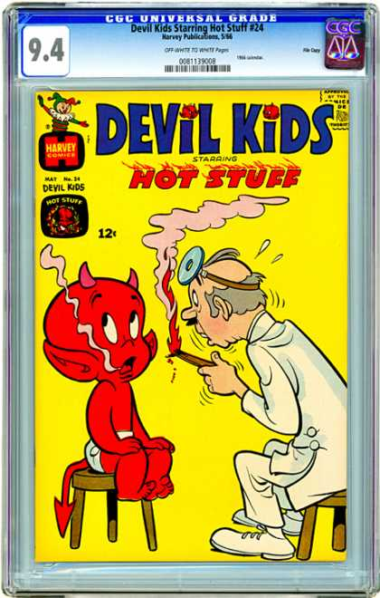 CGC Graded Comics - Devil Kids Starring Hot Stuff #24 (CGC) - Hot Stuff - Doctor - Burning Tongue Depressor - Harvey Comics - Stools