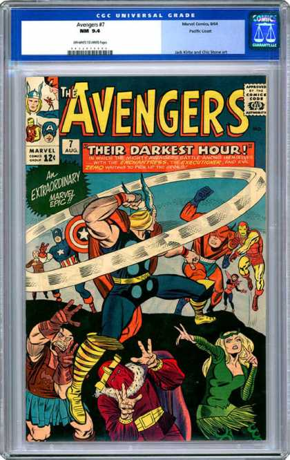 CGC Graded Comics - Avengers #7 (CGC) - Marvel - Marvel Comics - The Avengers - Thor - Super Heroes