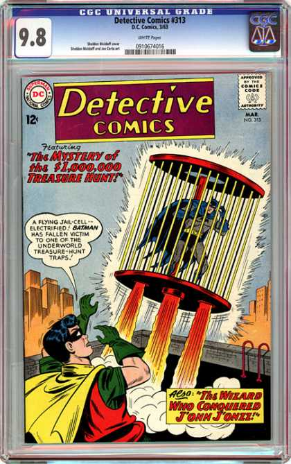 CGC Graded Comics - Detective Comics #313 (CGC) - Detective - Mystery Of 1000000 - Flying Jail Cell - Batman And Robin - Jailed Batman