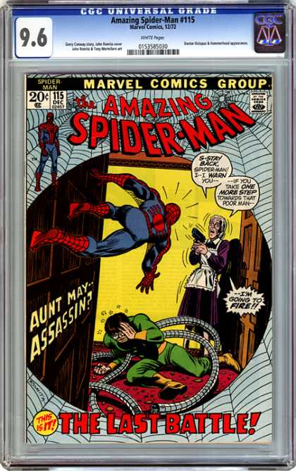 CGC Graded Comics - Amazing Spider-Man #115 (CGC) - Amazing Spider-man - Web - Marvel Comics Group - Comics Code - The Last Battle