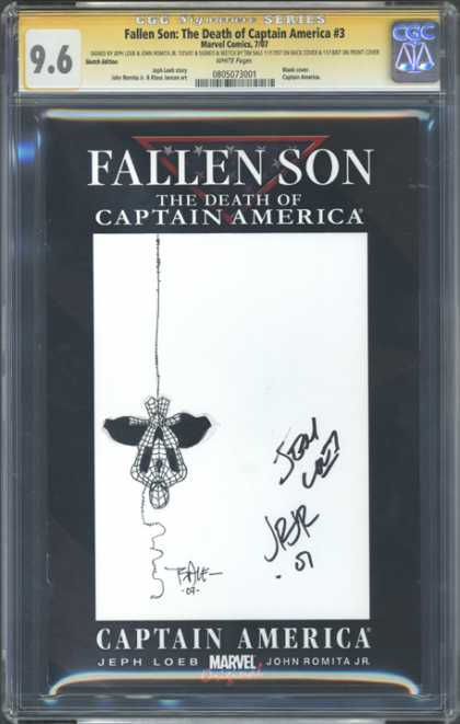CGC Graded Comics - Fallen Son: The Death of Captain America #3 (CGC) - Fallen Son - The Death Of Captain America - Marvel Comics - Spiderman - John Romita Jr