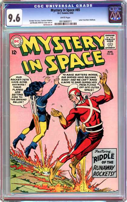 CGC Graded Comics - Mystery in Space #85 (CGC) - Mystery In Space - Runaway Rockets - Riddle - Rocket Jets - Fire In Ground
