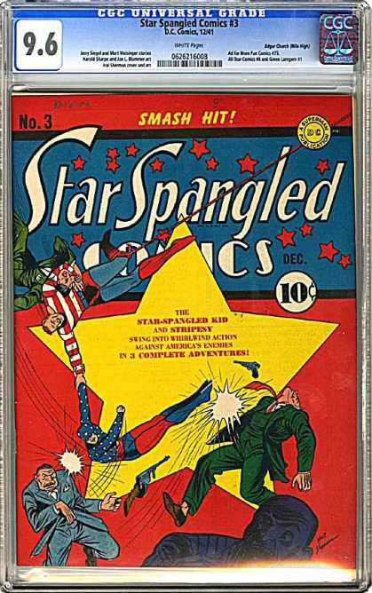 CGC Graded Comics - Star Spangled Comics #3 (CGC)