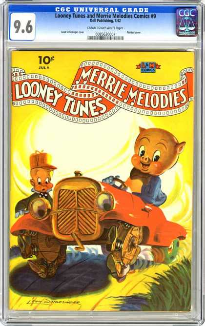 CGC Graded Comics - Looney Tunes and Merrie Melodies Comics #9 (CGC) - Merrie Melodies - Looney Tunes - July - Car - Dell Publishing