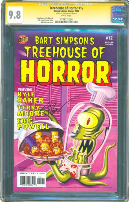 CGC Graded Comics - Treehouse of Horror #12 (CGC) - Kyle Baker - Terry Moore - Eric Powell - Plate - Shutters