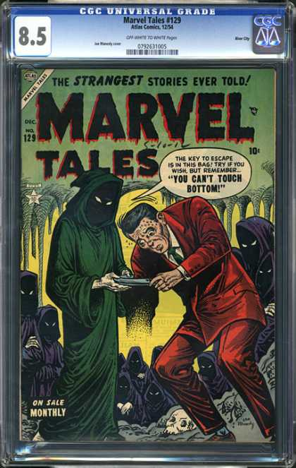 CGC Graded Comics - Marvel Tales #129 (CGC) - Marvel Tales - The Strangest Stories Ever Told - You Cant Touch Bottom - Druids - Cavern