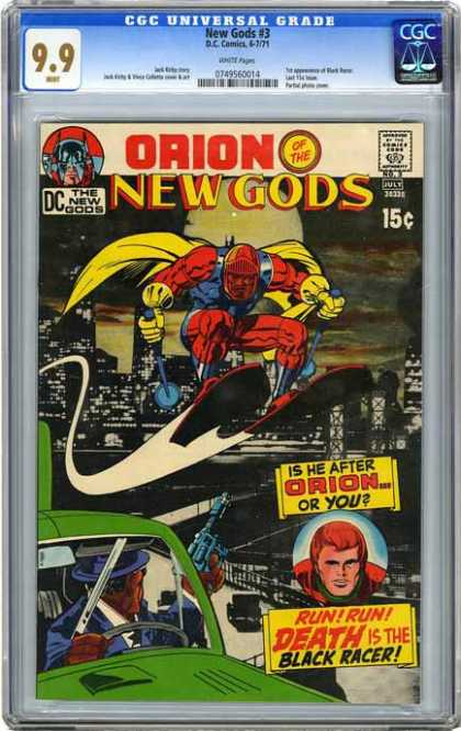 CGC Graded Comics - New Gods #3 (CGC) - 3 - New Gods - Orion - Dc