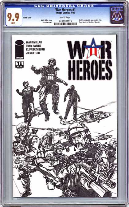 CGC Graded Comics - War Heroes #1 (CGC) - War Heroes - Men - Soldiers - Weapon - Hellicopter