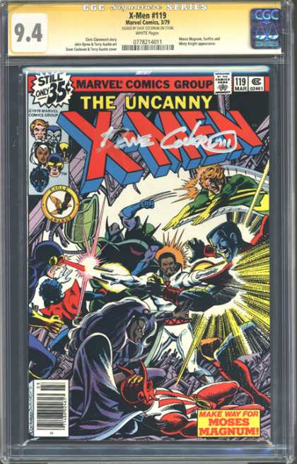 CGC Graded Comics - X-Men #119 (CGC) - Marvel Comics Group - The Uncanny - X-men - Make Way For Moses Magnum - Approved By Comics Code Authority