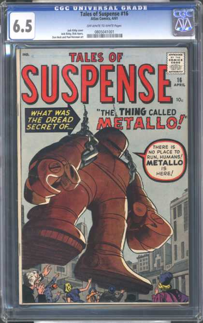 CGC Graded Comics - Tales of Suspense #16 (CGC) - Armored - Metallo - Giant - Metal - Domination