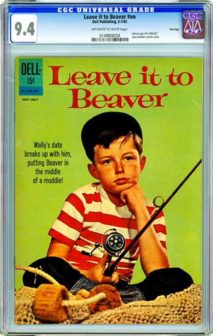 CGC Graded Comics - Leave it to Beaver #nn (CGC) - Leave It To Beaver - Dell - Boy - Fishing - Rode