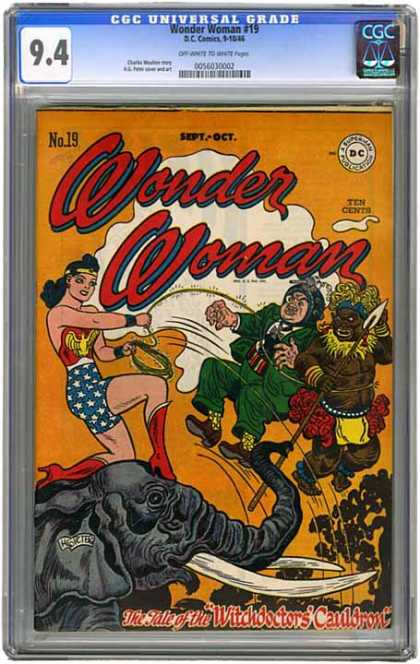 CGC Graded Comics - Wonder Woman #19 (CGC) - Cgc - Cgc Comics - Wonder Woman - Dc - Dc Comics